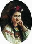 """Костянтин Маковський """"Українка"""" 1884 р."""