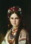 """Микола Рачков """"Дівчина-українка"""" друга половина 19 ст."""