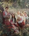 """Ганна Виноградова """"Плетіння вінків"""" 2008 р."""