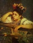 """Ілля Рєпін """"Біля тину"""" 1875 р."""